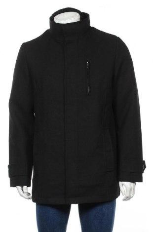 Ανδρικά παλτό Tom Tailor, Μέγεθος L, Χρώμα Μαύρο, 88% πολυεστέρας, 11% μαλλί, 1% πολυακρυλικό, Τιμή 73,07€