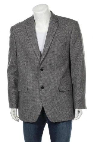 Мъжко сако Angelo Litrico, Размер XL, Цвят Сив, 50% вълна, 25% полиестер, 25% вискоза, Цена 37,80лв.