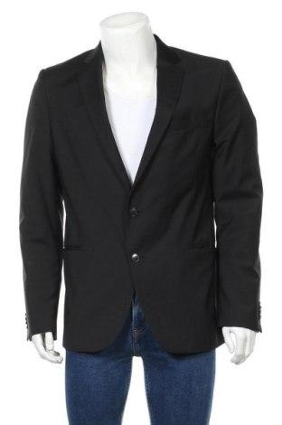 Мъжко сако Cinque, Размер L, Цвят Черен, Вълна, Цена 42,89лв.