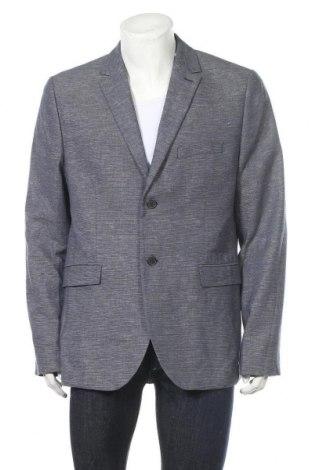 Мъжко сако H&M, Размер XL, Цвят Син, 83% памук, 17% лен, Цена 26,04лв.