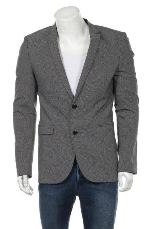 Мъжко сако Hugo Boss, Размер M, Цвят Сив, 66% памук, 32% полиамид, 3% еластан, Цена 73,08лв.