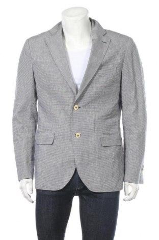Мъжко сако Massimo Dutti, Размер L, Цвят Черен, 51% памук, 49% лен, Цена 53,87лв.
