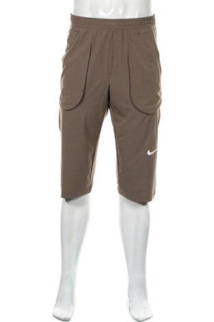 Мъжко спортно долнище Nike, Размер S, Цвят Бежов, 85% полиестер, 15% еластан, Цена 61,95лв.