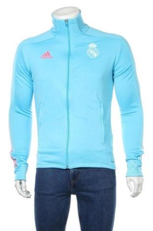 Ανδρική αθλητική ζακέτα Adidas, Μέγεθος S, Χρώμα Μπλέ, Πολυεστέρας, Τιμή 35,72€
