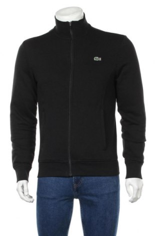 Мъжко спортно горнище Lacoste, Размер S, Цвят Черен, 83% памук, 17% полиестер, Цена 96,75лв.