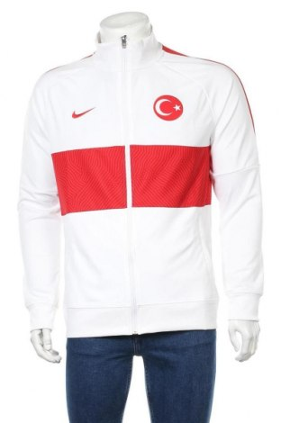 Мъжко спортно горнище Nike, Размер L, Цвят Бял, Полиестер, Цена 96,75лв.