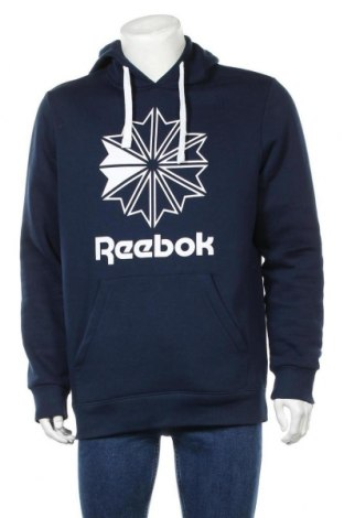 Мъжко спортно горнище Reebok, Размер L, Цвят Син, 80% памук, 20% полиестер, Цена 61,50лв.