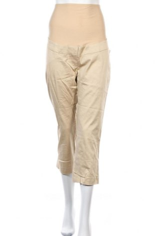 Панталон за бременни H&M Mama, Размер L, Цвят Бежов, 98% памук, 2% еластан, Цена 46,20лв.