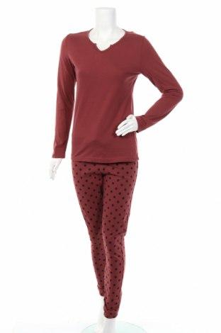 Пижама Vivance, Размер XS, Цвят Червен, Памук, Цена 42,00лв.