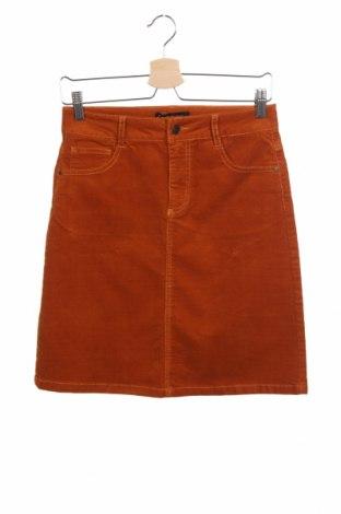Пола Free Quent, Размер XS, Цвят Оранжев, 86% памук, 12% вискоза, 2% еластан, Цена 27,65лв.