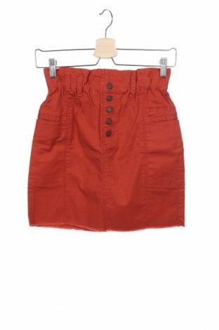 Пола Hollister, Размер XS, Цвят Оранжев, 97% памук, 3% еластан, Цена 37,80лв.