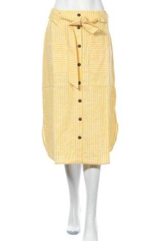 Пола Mint & Berry, Размер S, Цвят Жълт, 55% лен, 45% памук, Цена 59,25лв.
