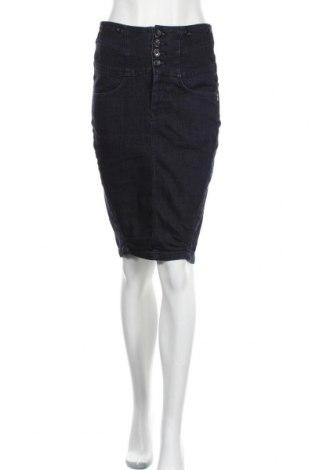 Φούστα Numph, Μέγεθος S, Χρώμα Μπλέ, 98% βαμβάκι, 2% ελαστάνη, Τιμή 22,08€