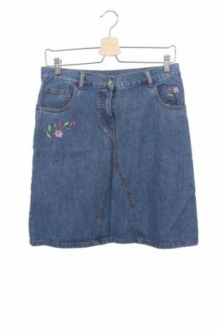 Fustă-pantalon., Mărime 13-14y/ 164-168 cm, Culoare Albastru, Bumbac, Preț 24,55 Lei