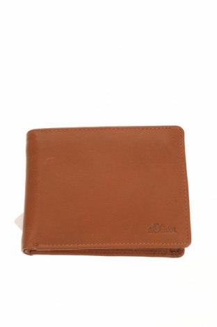 Πορτοφόλι S.Oliver, Χρώμα Καφέ, Γνήσιο δέρμα, Τιμή 30,54€