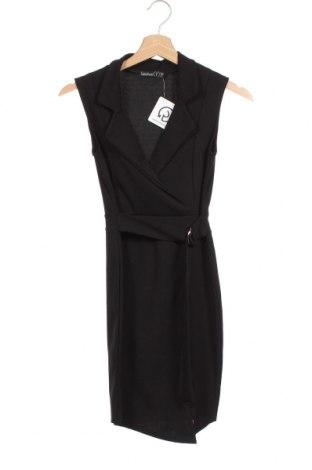 Φόρεμα Boohoo, Μέγεθος XXS, Χρώμα Μαύρο, 95% πολυεστέρας, 5% ελαστάνη, Τιμή 14,29€