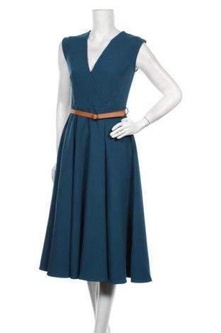 Rochie Closet London, Mărime XL, Culoare Albastru, 77% poliester, 17% viscoză, 6% elastan, Preț 293,59 Lei