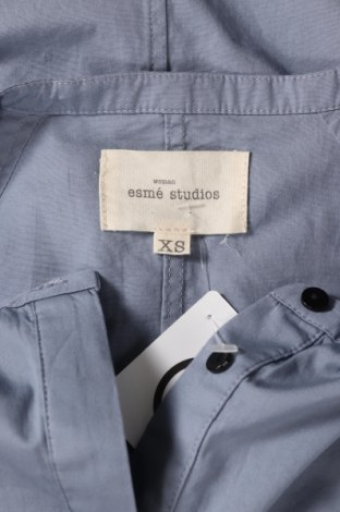 Рокля Esme Studios, Размер XS, Цвят Син, Памук, Цена 75,75лв.