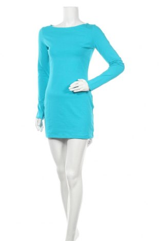 Рокля Oodji, Размер S, Цвят Син, 95% памук, 5% еластан, Цена 10,92лв.