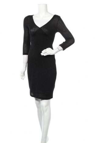 Φόρεμα Pieces, Μέγεθος S, Χρώμα Μαύρο, 89% βισκόζη, 11% μεταλλικά νήματα, Τιμή 18,19€