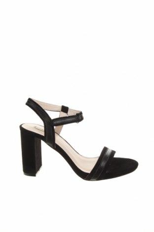 Сандали Kiomi, Размер 40, Цвят Черен, Естествен велур, естествена кожа, Цена 32,70лв.