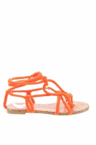Сандали Public Desire, Размер 36, Цвят Оранжев, Текстил, Цена 44,25лв.