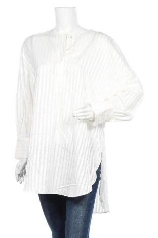 Τουνίκ Massimo Dutti, Μέγεθος L, Χρώμα Λευκό, 52% βισκόζη, 48% βαμβάκι, Τιμή 24,68€