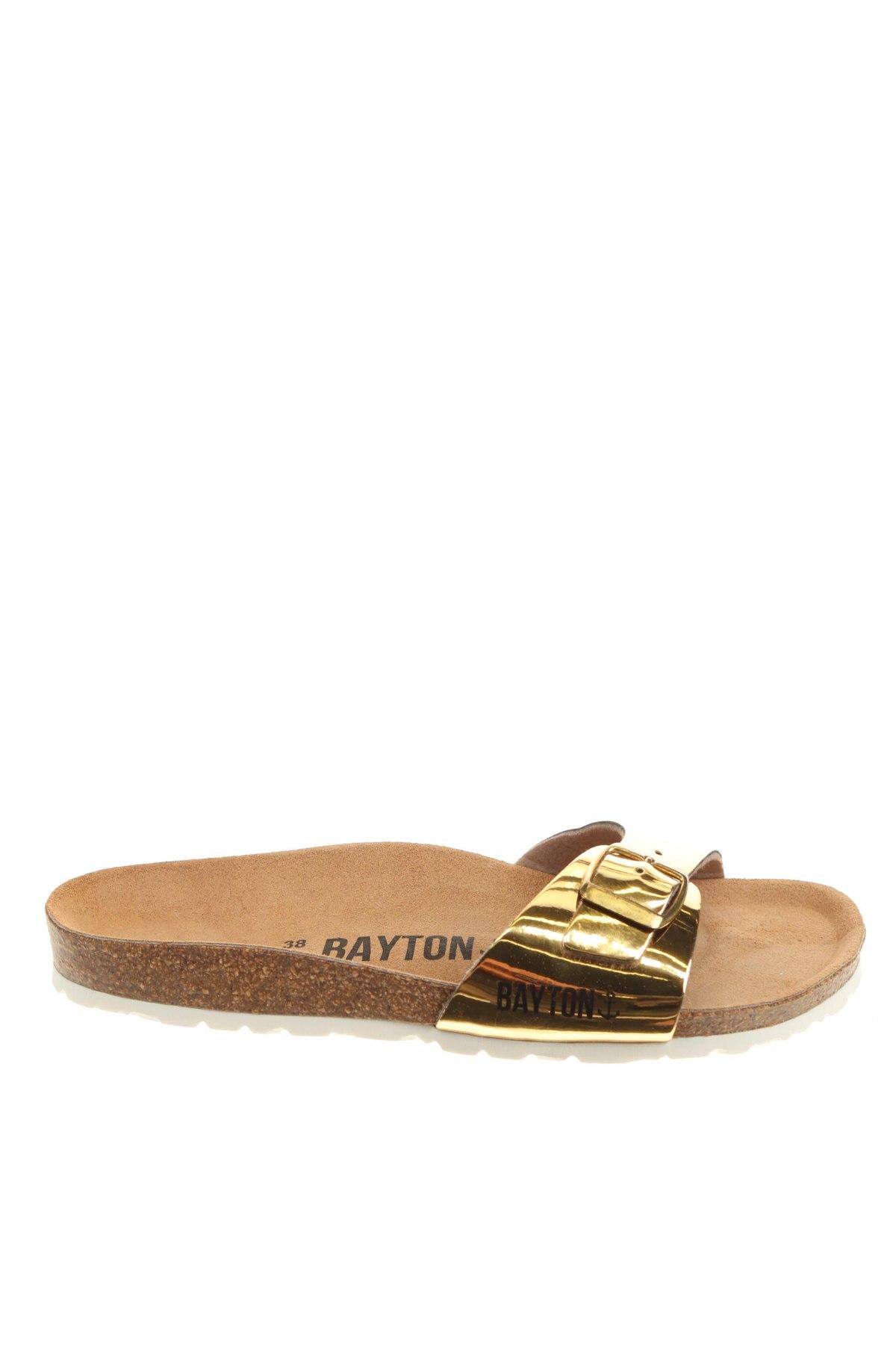 Чехли Bayton, Размер 38, Цвят Златист, Еко кожа, Цена 55,76лв.