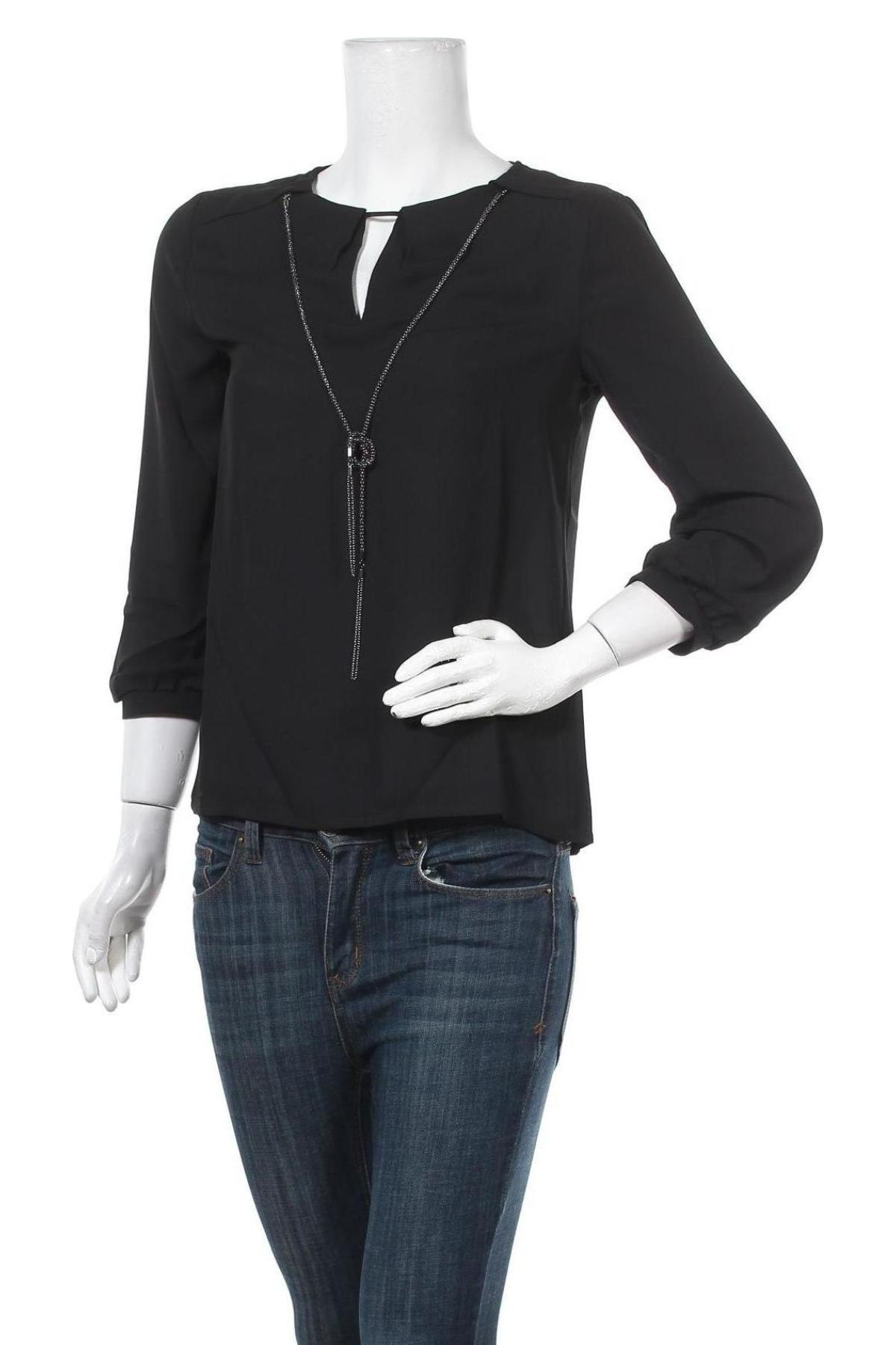 Дамска блуза Anna Field, Размер S, Цвят Черен, Полиестер, Цена 9,80лв.