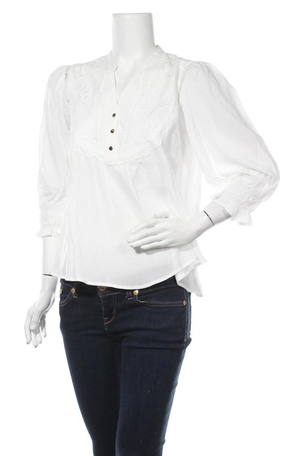 Дамска блуза Culture, Размер S, Цвят Бял, 75% вискоза, 25% полиестер, Цена 28,48лв.