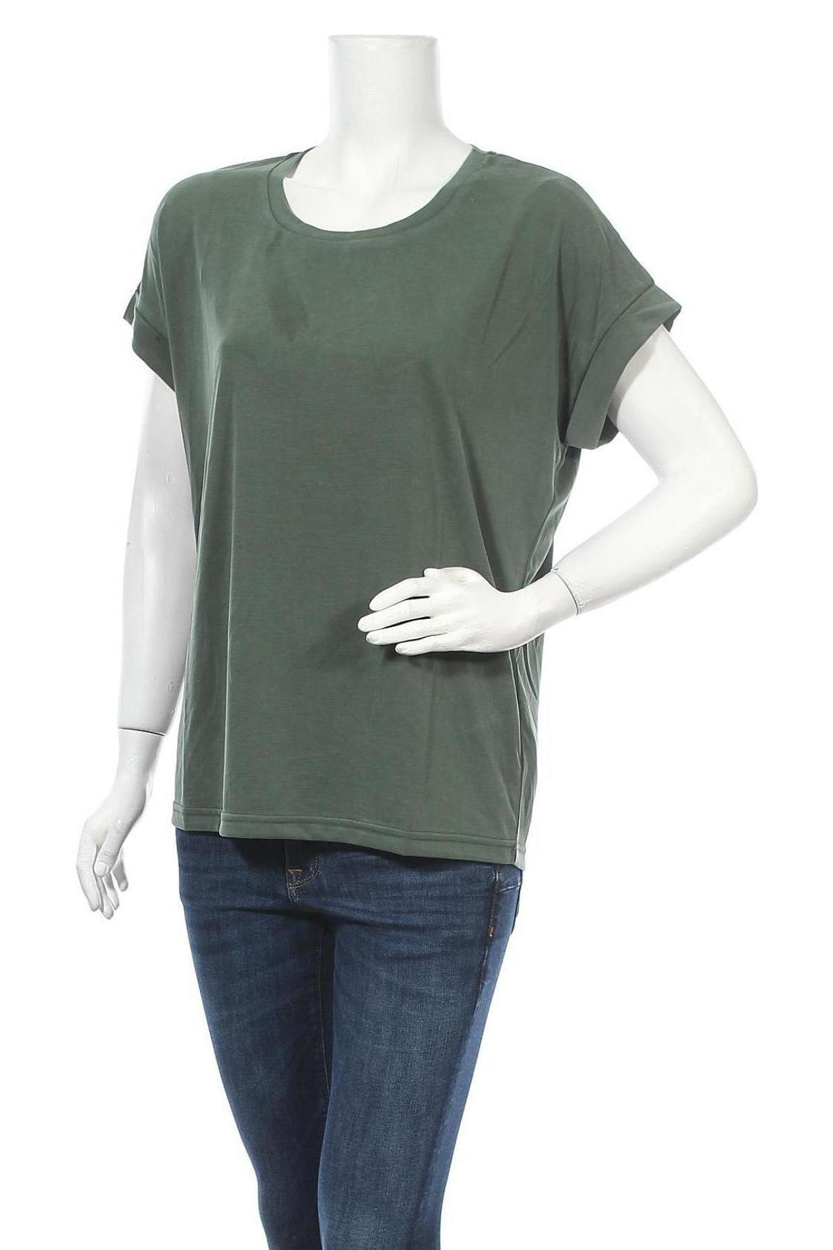 Дамска блуза Culture, Размер M, Цвят Зелен, 70% модал, 30% полиестер, Цена 10,92лв.
