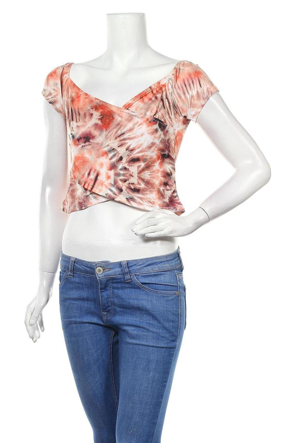 Дамска блуза Even&Odd, Размер XL, Цвят Многоцветен, 95% полиестер, 5% еластан, Цена 2,00лв.