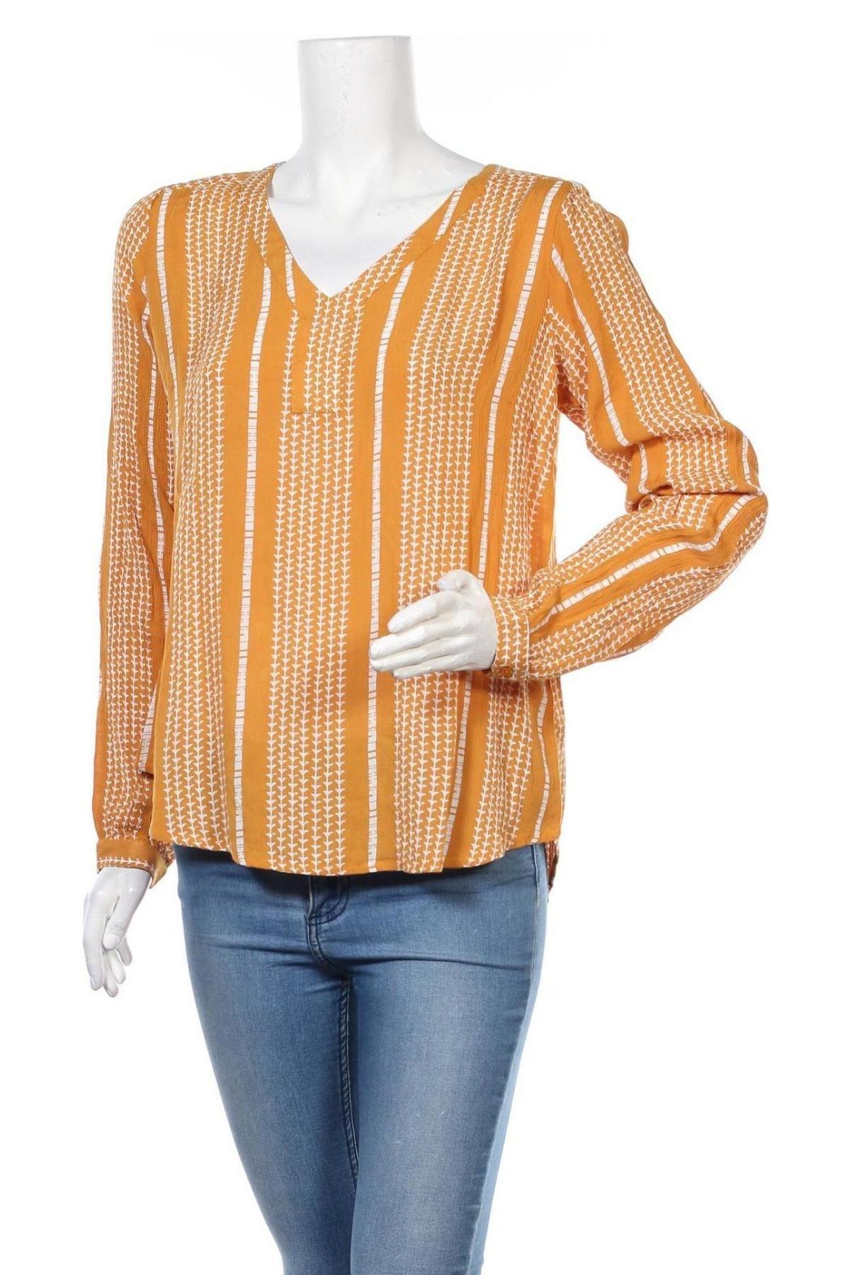 Γυναικεία μπλούζα Kaffe, Μέγεθος S, Χρώμα Κίτρινο, Βισκόζη, Τιμή 6,28€