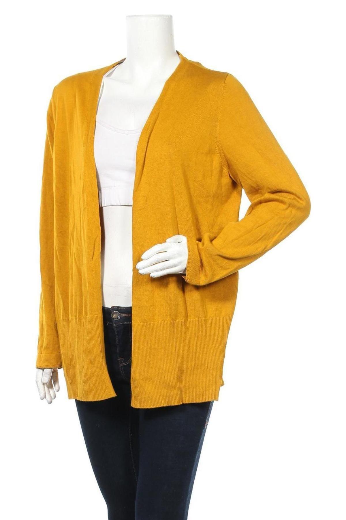 Дамска жилетка S.Oliver, Размер XL, Цвят Жълт, 60% вискоза, 40% памук, Цена 34,10лв.