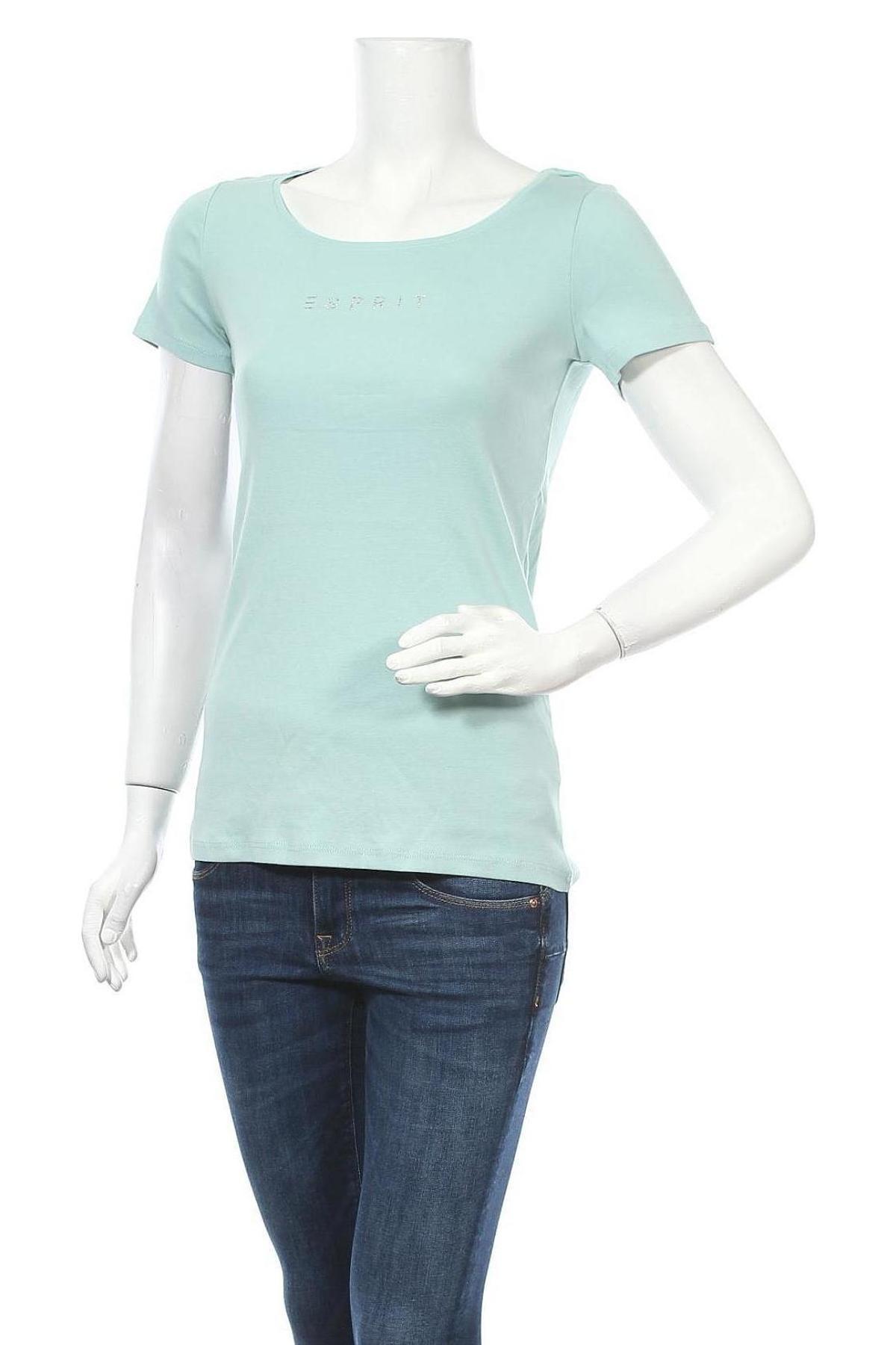 Дамска тениска Esprit, Размер M, Цвят Син, Памук, Цена 25,50лв.