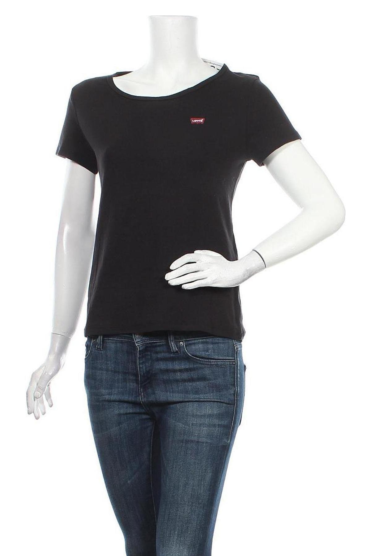Γυναικείο t-shirt Levi's, Μέγεθος L, Χρώμα Μαύρο, 96% βαμβάκι, 4% ελαστάνη, Τιμή 20,10€