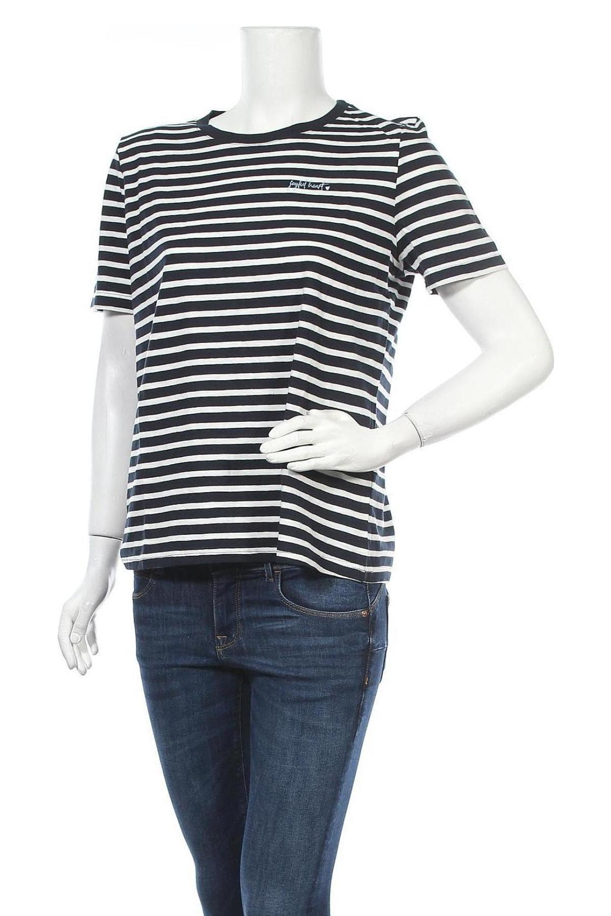 Γυναικείο t-shirt Tom Tailor, Μέγεθος L, Χρώμα Λευκό, Βαμβάκι, Τιμή 15,08€