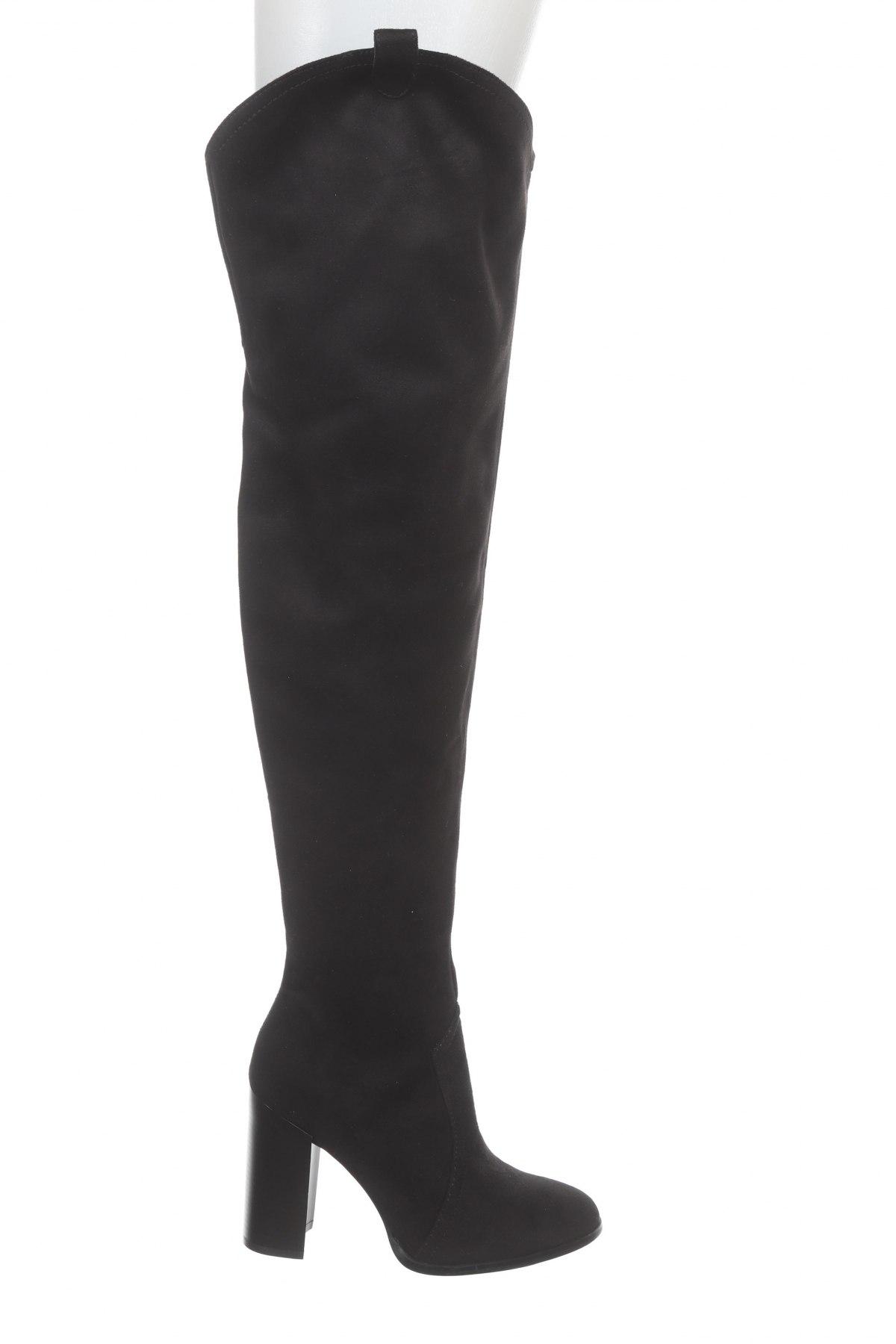 Дамски ботуши Even&Odd, Размер 39, Цвят Черен, Текстил, Цена 79,00лв.