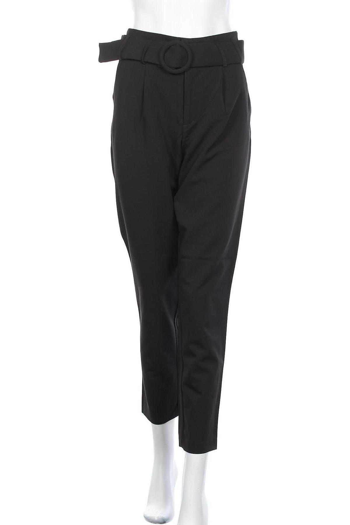 Дамски панталон ONLY, Размер S, Цвят Черен, 63% полиестер, 31% вискоза, 6% еластан, Цена 17,73лв.