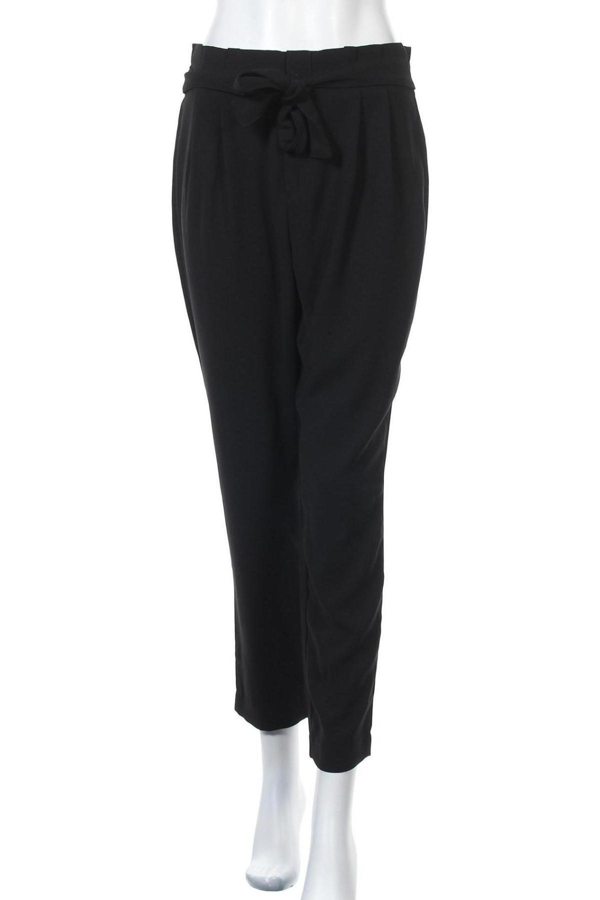 Дамски панталон ONLY, Размер M, Цвят Черен, Полиестер, Цена 17,16лв.