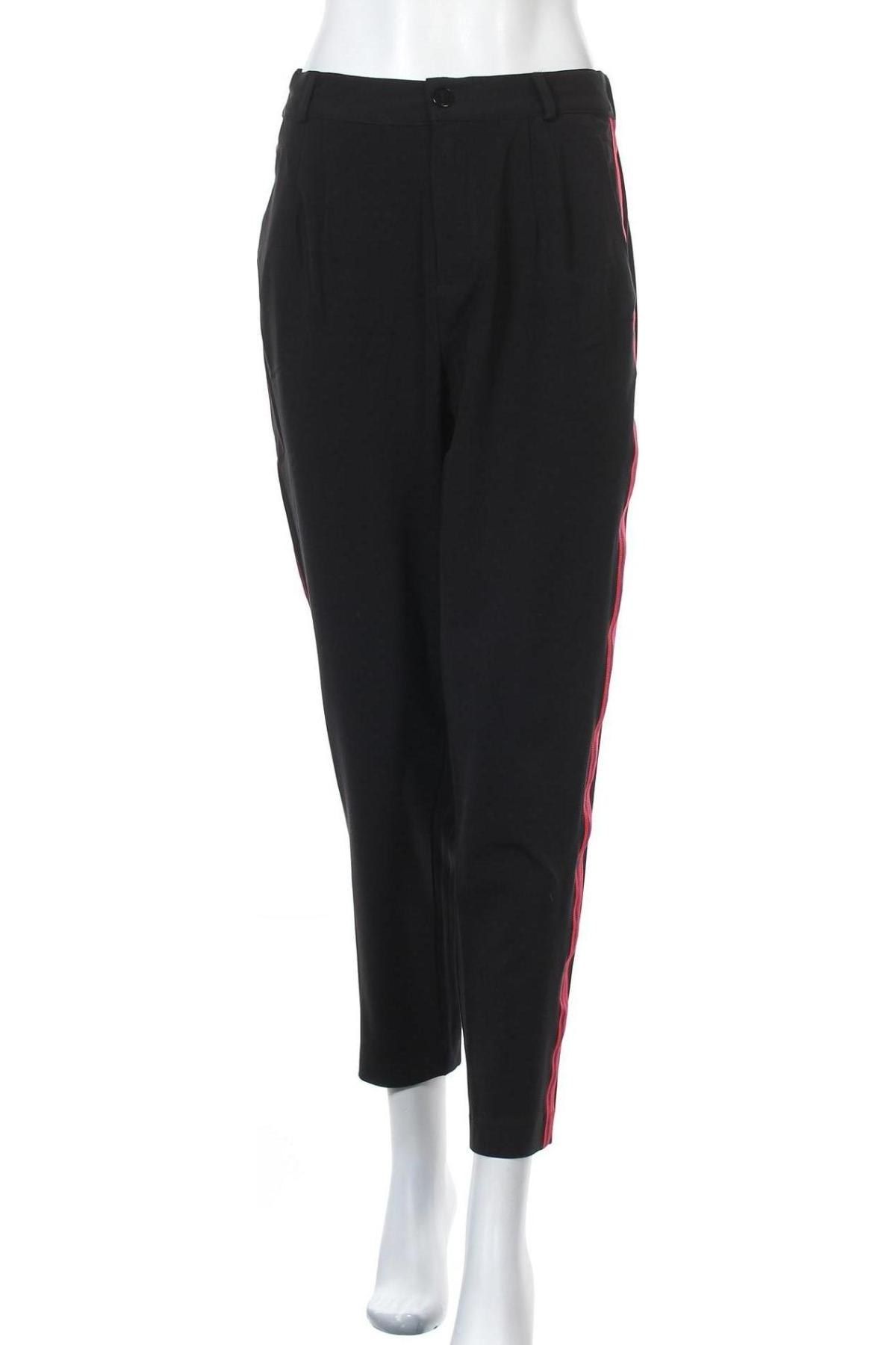 Дамски панталон Twintip, Размер M, Цвят Черен, 63% полиестер, 33% вискоза, 4% еластан, Цена 20,19лв.