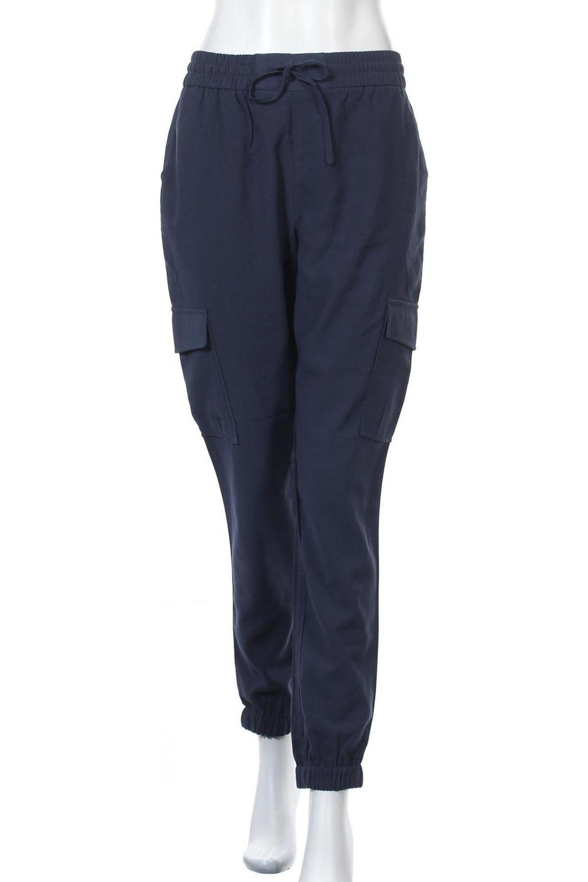 Дамски панталон Vila, Размер S, Цвят Син, 90% вискоза, 10% полиестер, Цена 16,84лв.