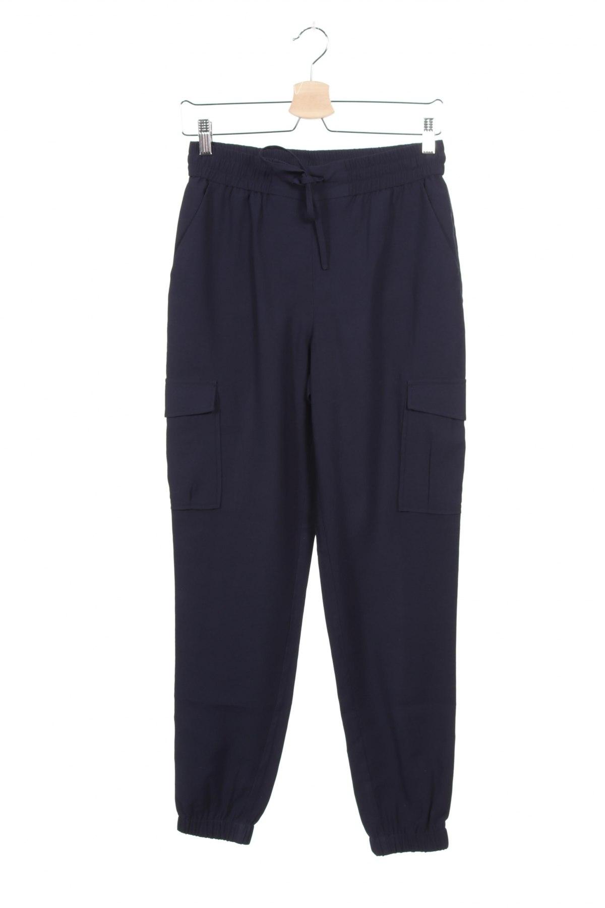 Дамски панталон Vila, Размер XS, Цвят Син, 90% вискоза, 10% полиестер, Цена 16,84лв.