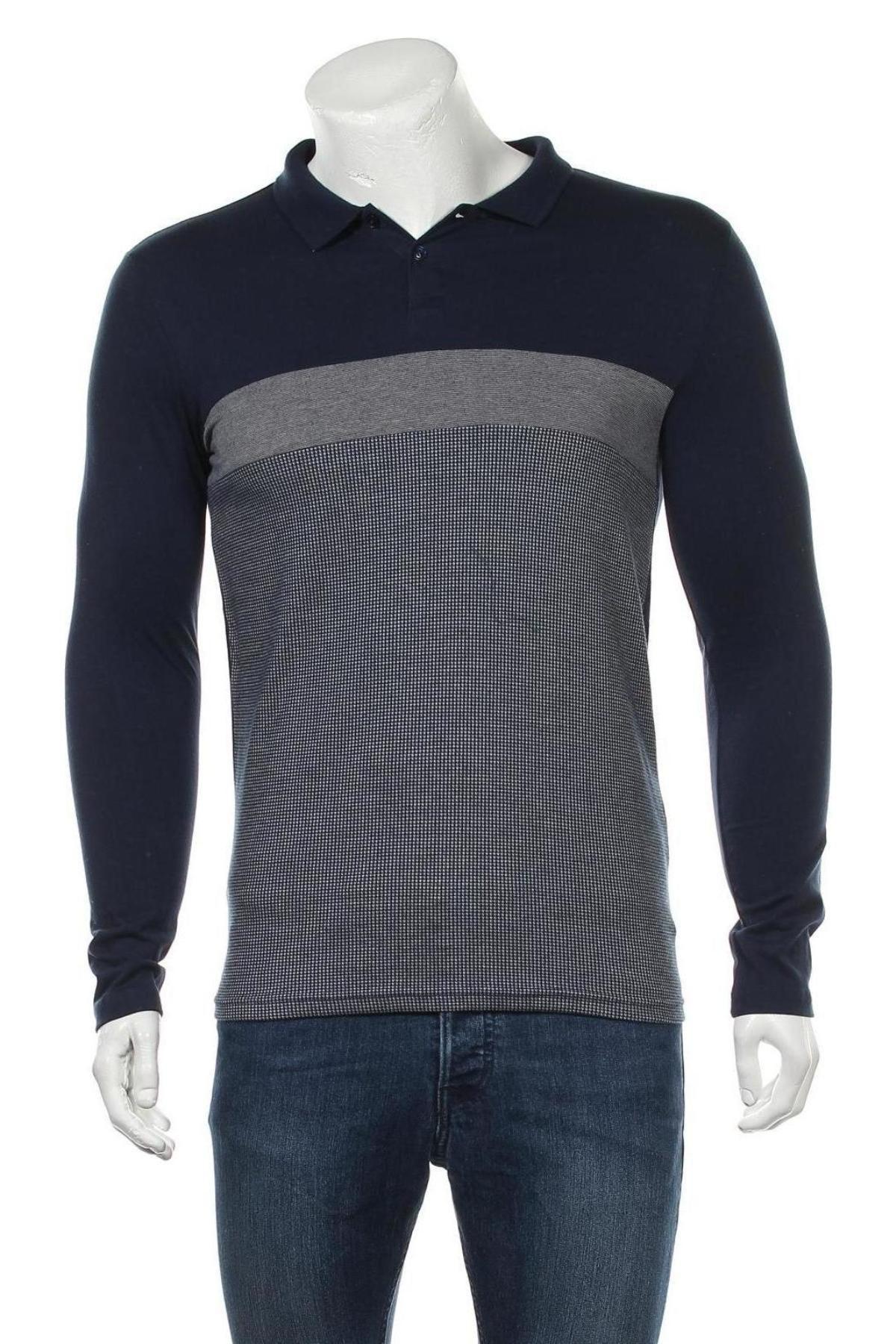 Мъжка блуза Pier One, Размер S, Цвят Син, 70% полиестер, 30% памук, Цена 13,20лв.