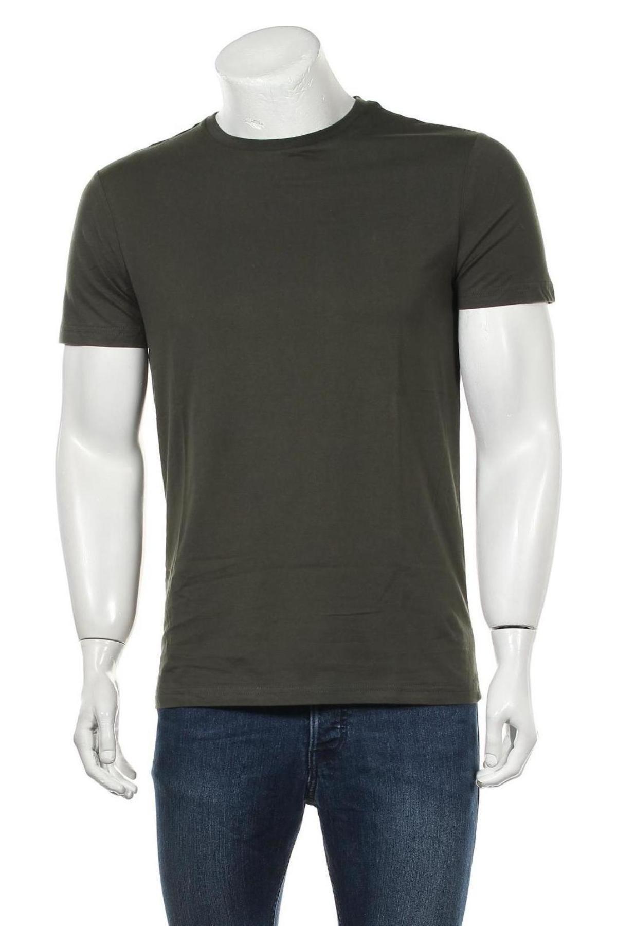 Мъжка тениска Pier One, Размер M, Цвят Зелен, Памук, Цена 21,00лв.