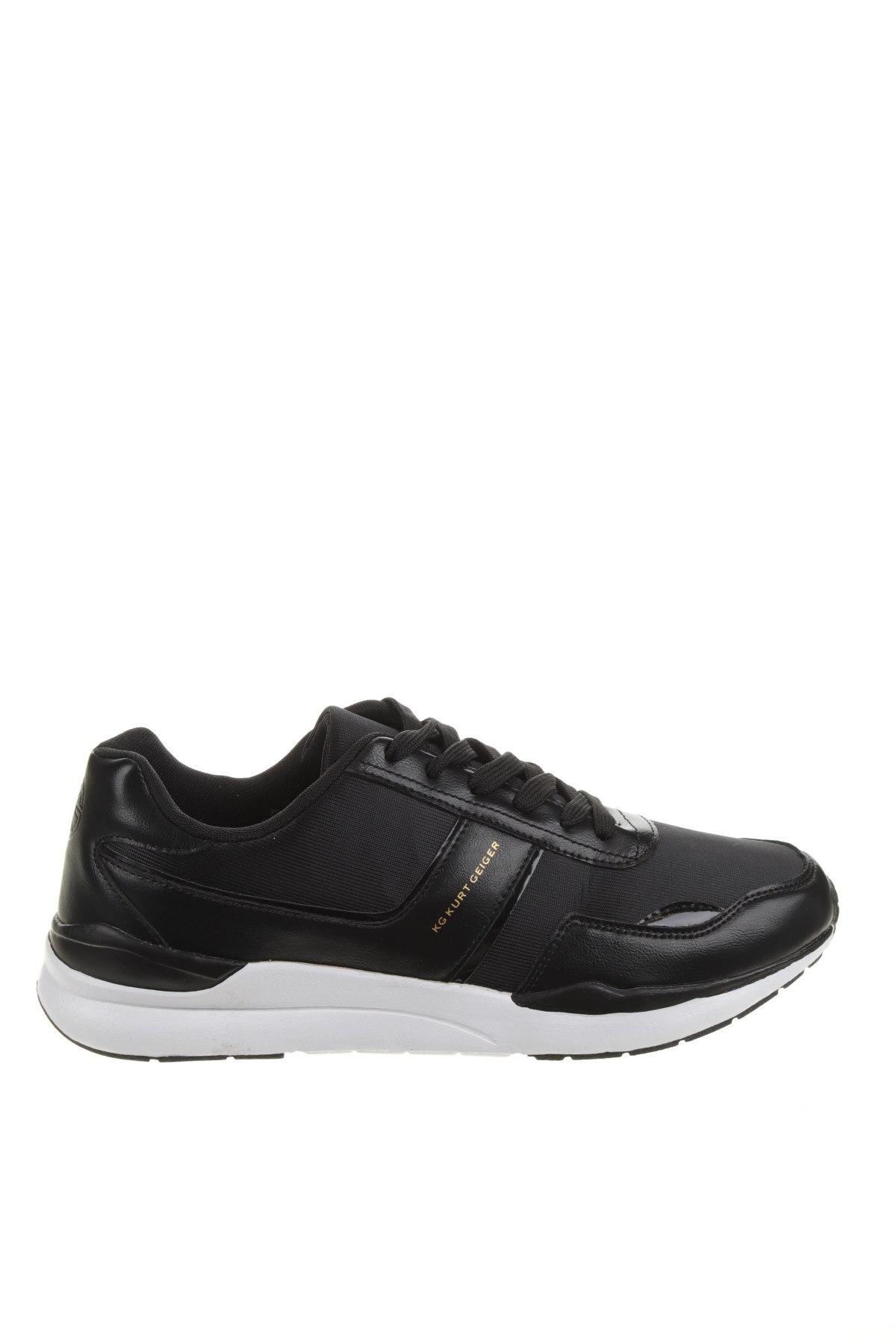 Мъжки обувки Kurt Geiger, Размер 45, Цвят Черен, Текстил, еко кожа, Цена 49,17лв.