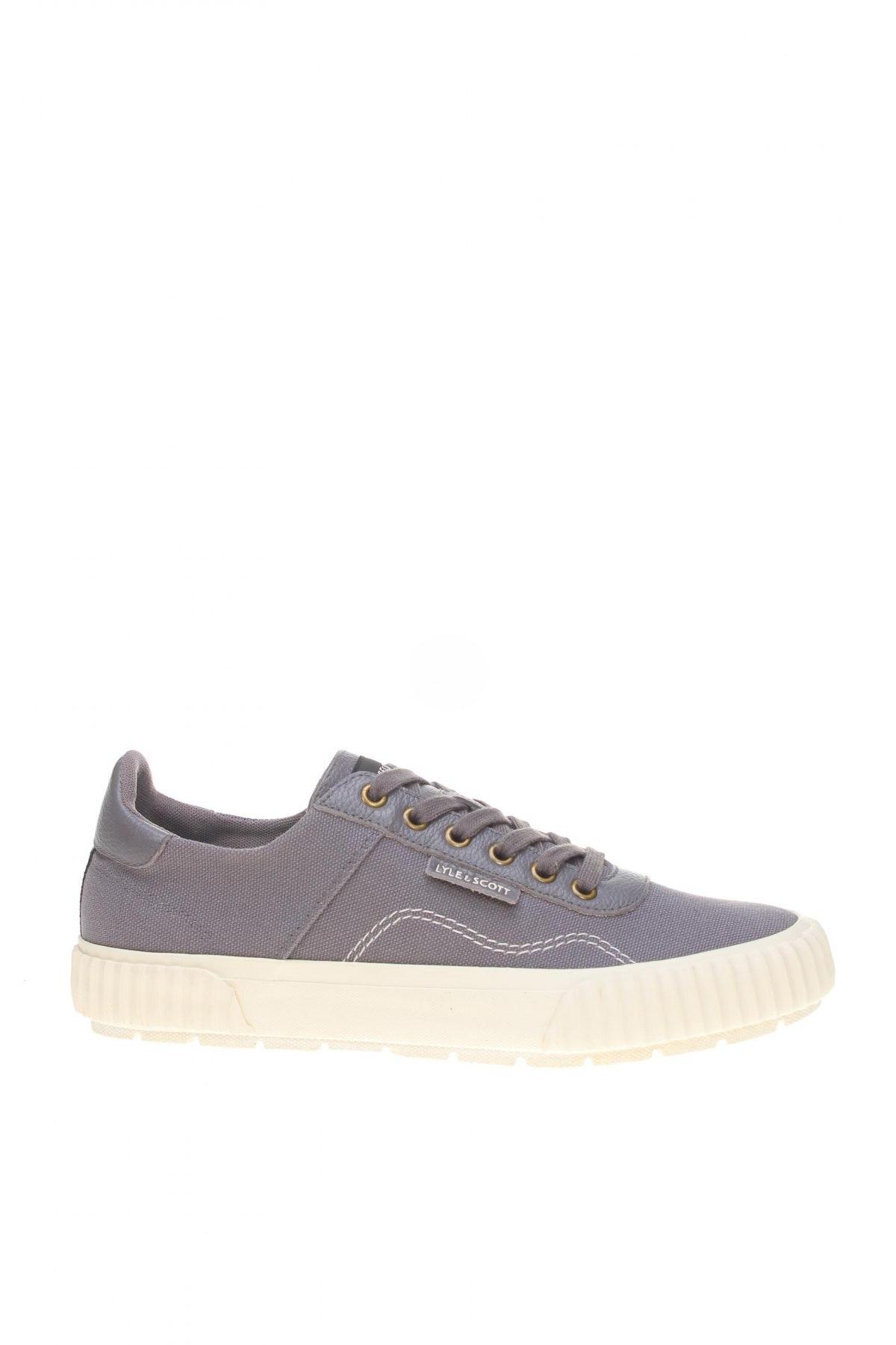Мъжки обувки Lyle & Scott, Размер 41, Цвят Сив, Текстил, естествена кожа, Цена 106,50лв.