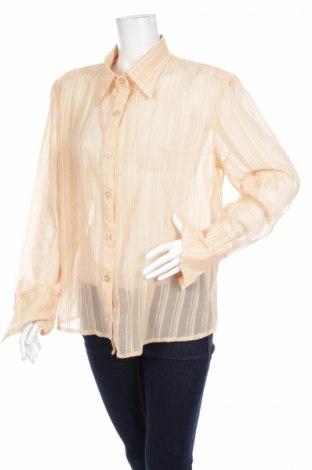 Γυναικείο πουκάμισο, Μέγεθος XXL, Χρώμα  Μπέζ, 90% βαμβάκι, 10% πολυεστέρας, Τιμή 13,92€