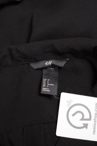 Γυναικείο πουκάμισο H&M, Μέγεθος S, Χρώμα Μαύρο, Πολυεστέρας, Τιμή 11,75€