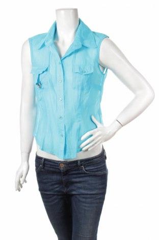 Дамска риза Lenara, Размер M, Цвят Син, 67% памук, 33% полиамид, Цена 4,50лв.